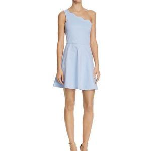 Scalloped One-Shoulder Dress